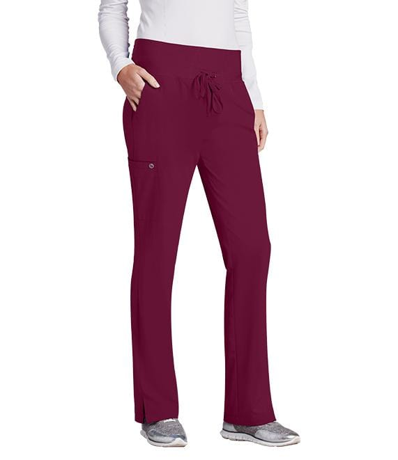 Barco One Women's 5 Pocket Knit Waist Cargo Pant - 5206 P Petite - ScrubHaven