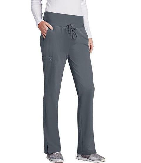 Barco One Women's 5 Pocket Knit Waist Cargo Pant - 5206T Tall - ScrubHaven