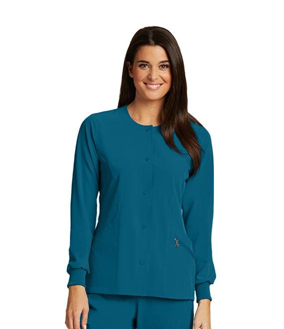 Barco One Women's 4 Pocket Perforated Princess Warm Up - 5409 - ScrubHaven