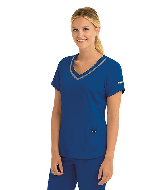 Greys Anatomy Impact Women's 3 Pocket Seamed V-Neck - 7187 - ScrubHaven