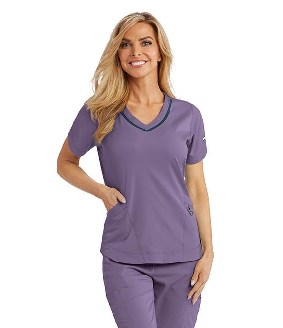 Greys Anatomy Impact Women's 3 Pocket Seamed V-Neck - 7187X - ScrubHaven