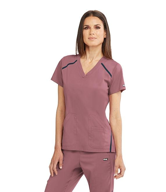 Greys Anatomy Impact Women's 3 Pocket Cross Over V-Neck - 7188X - ScrubHaven