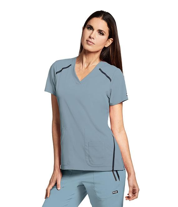 Greys Anatomy Impact Women's 3 Pocket Cross Over V-Neck - 7188 - ScrubHaven
