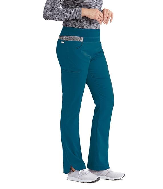 Greys Anatomy Impact Women's 4 Pocket Space Dye Double Cargo Pant - 7227 P Petite - ScrubHaven