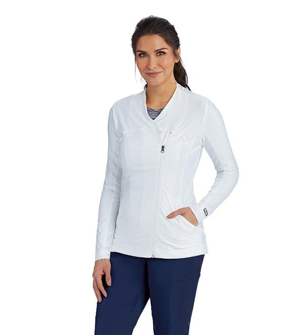 Greys Anatomy Impact Women's 2 Pocket Asymmetric Zip Jacket - 7445 - ScrubHaven