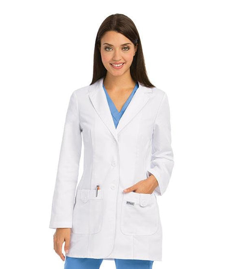 Greys Anatomy Women's 31.5 In 2 Pocket Fitted Lab Coat - 7446X - ScrubHaven