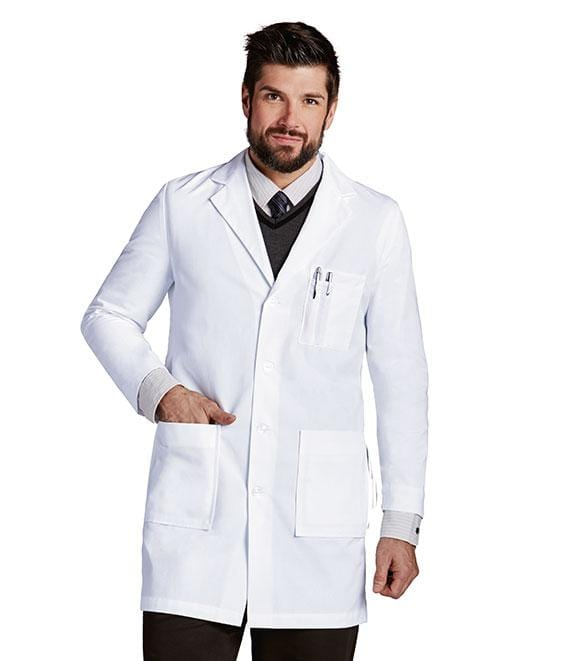 Labcoats by Barco Men's 37 In 6 Pocket Mr Barco Lab Coat - 9599X - ScrubHaven