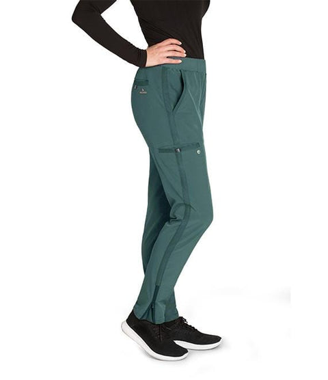 Barco Wellness Women's 5 Pocket Knit Waist Cargo Pant - BWP505 P Petite - ScrubHaven