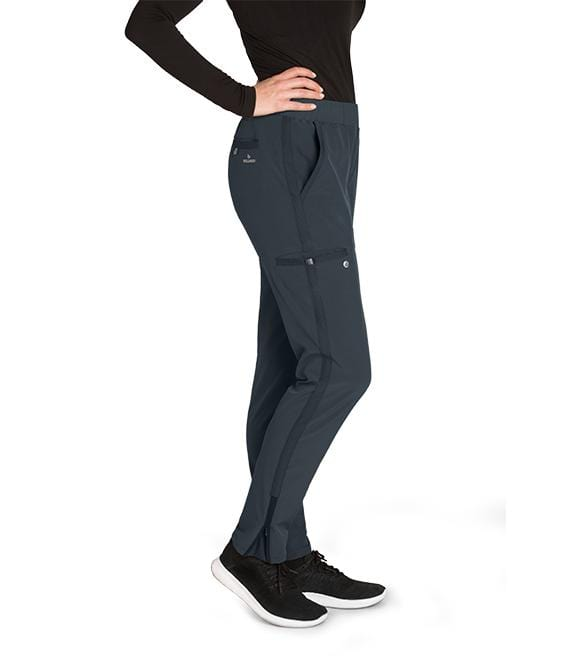 Barco Wellness Women's 5 Pocket Knit Waist Cargo Pant - BWP505T Tall - ScrubHaven