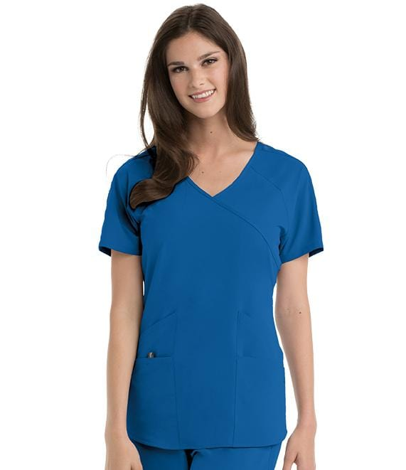 Barco Wellness Women's 4 Pocket V-Neck Raglan With Backslit Top - BWT008 - ScrubHaven