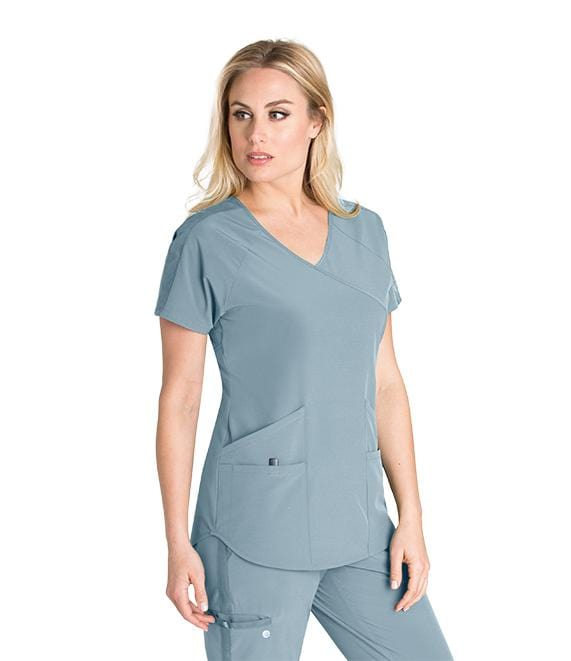 Barco Wellness Women's 4 Pocket V-Neck Raglan With Backslit Top - BWT008X - ScrubHaven