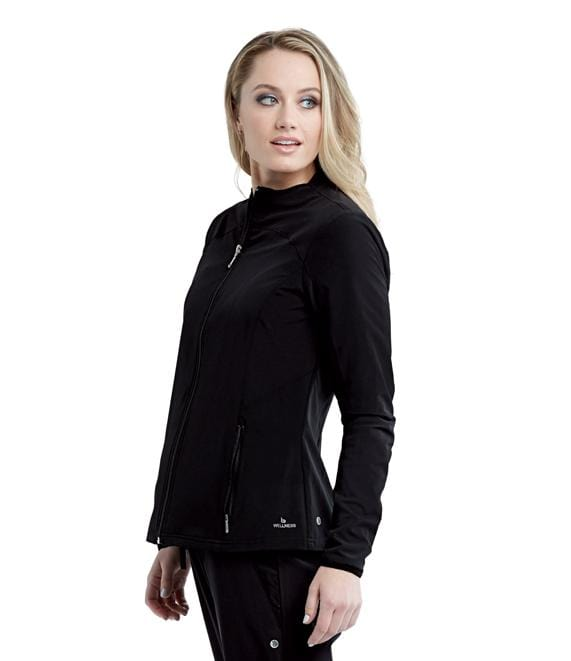 Barco Wellness Women's 2 Pocket Zip Front Solid Warmup - BWW903 - ScrubHaven