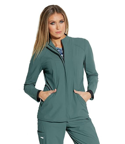Greys Anatomy Edge Women's 2 Pocket Angled Seamed Jacket - GEJ004 - ScrubHaven