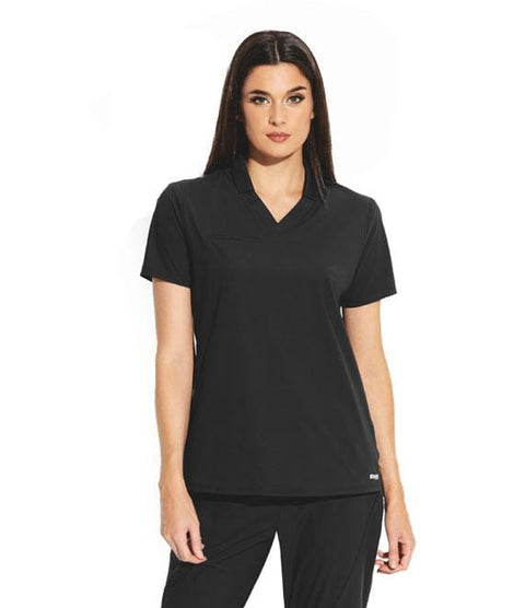 Greys Anatomy Edge Women's 3 Pocket Hi Low Collar Polo - GET006 - ScrubHaven