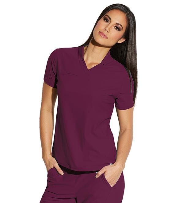 Greys Anatomy Edge Women's 3 Pocket Hi Low Collar Polo - GET006X - ScrubHaven