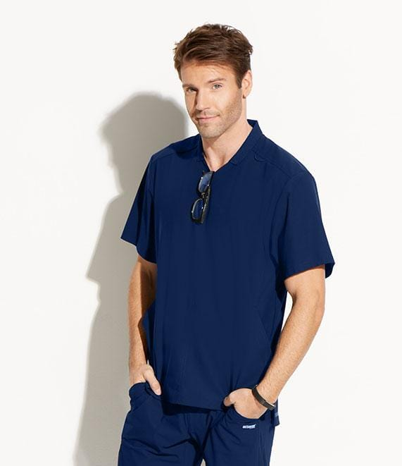 Greys Anatomy Edge Men's 3 Pocket Collar Polo - GET009 - ScrubHaven