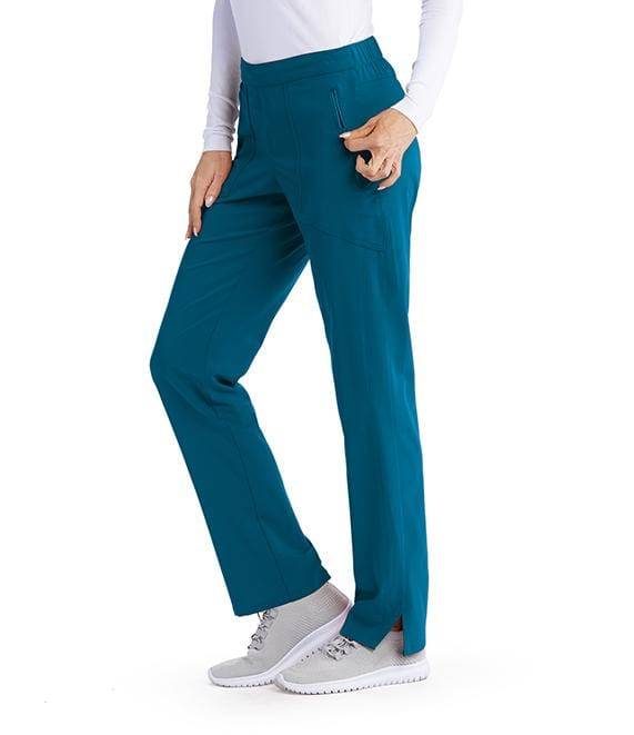 Greys Anatomy Signature Women's 3 Pocket Flat Front Drawstring Pant - GNP502T Tall - ScrubHaven