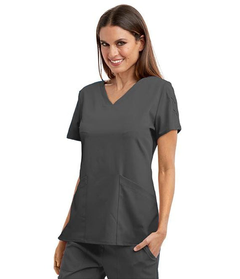 Greys Anatomy Signature Women's 3 Pocket V-Neck Laced Sleeve - GNT019X - ScrubHaven