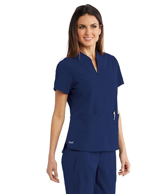 Greys Anatomy Signature Women's 3 Pocket Split Neck Tunic - GNT023 - ScrubHaven