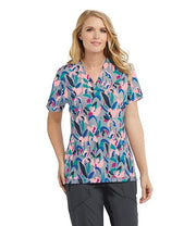 Greys Anatomy Signature Women's 3 Pocket Shaped Lapover V-Neck - GNT030X - ScrubHaven