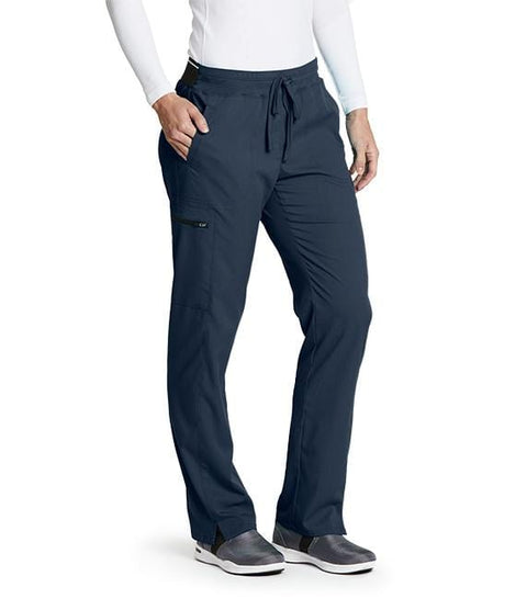 Greys Anatomy Women's 3 Pocket Back Logo Elastic Cargo Pant - GRSP500T Tall - ScrubHaven