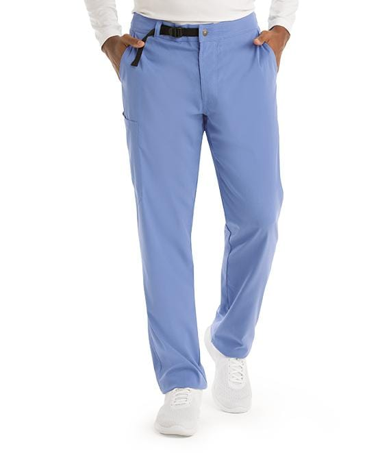 Greys Anatomy Men's 4 Pocket Belt Waist Cargo Pant - GRSP507T Tall - ScrubHaven