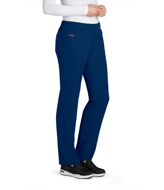Greys Anatomy Women's 5 Pocket Flat Front Logo Back Pant - GRSP510 - ScrubHaven