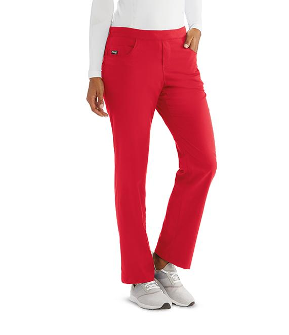 Greys Anatomy Women's 5 Pocket Flat Front Logo Back Pant - GRSP510X - ScrubHaven