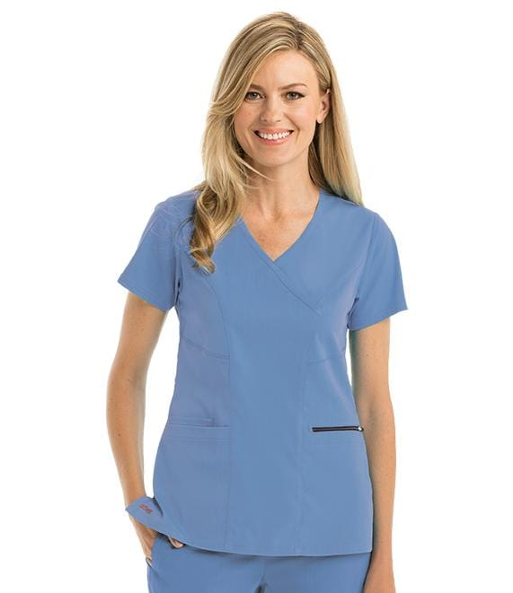 Greys Anatomy Women's 3 Pocket Surplice Princess Top - GRST001 - ScrubHaven