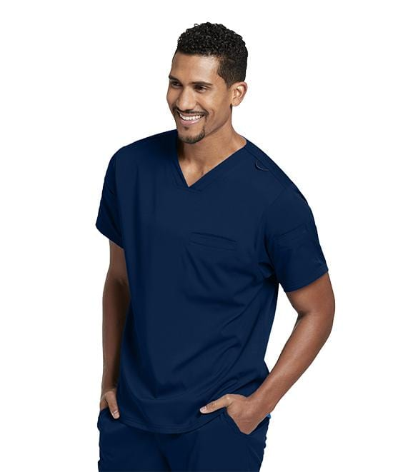 Greys Anatomy Men's 3 Pocket Sleeve Welt V-Neck Top - GRST009X - ScrubHaven