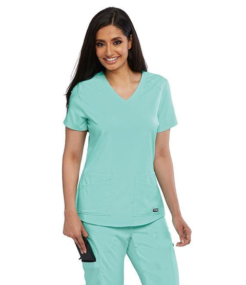 Greys Anatomy Women's 4 Pocket Front & Back Shoulder Yoke Top - GRST011X - ScrubHaven