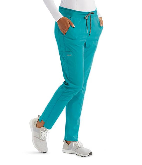 Greys Anatomy Active Women's 3 Pocket Knit Waist Cargo Pant - GVSP509T Tall - ScrubHaven