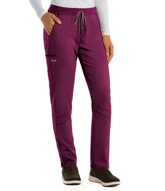 Greys Anatomy Active Women's 3 Pocket Knit Waist Cargo Pant - GVSP509P Petite - ScrubHaven