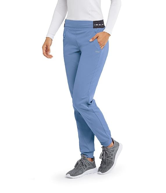 Greys Anatomy Active Women's 3 Pocket Logo Knit Waist Jogger - GVSP512T Tall - ScrubHaven