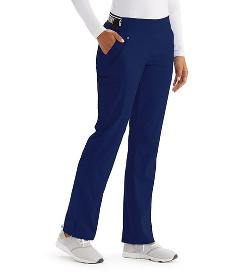 Greys Anatomy Active Women's 5 Pocket Logo Waist Angle Seam Pant - GVSP515T Tall - ScrubHaven
