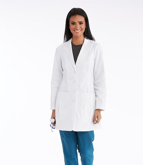 "Barco One Team Women's 34"" 2 Pocket Back Belted Lab Coat - LBC905X - ScrubHaven"