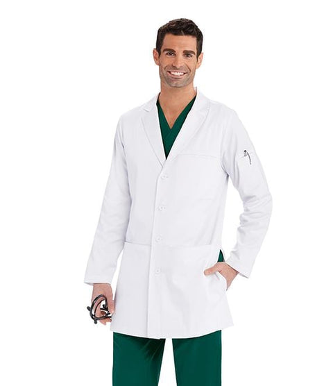"Barco One Team Men's 36"" 4 Pocket Welt Lab Coat - LBC907 - ScrubHaven"