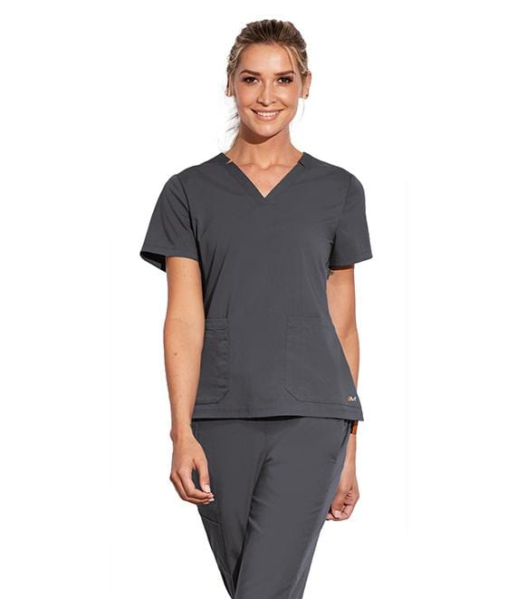 Motion by Barco Women's 3 Pocket Notched Lapover V-Neck - MOT002 - ScrubHaven