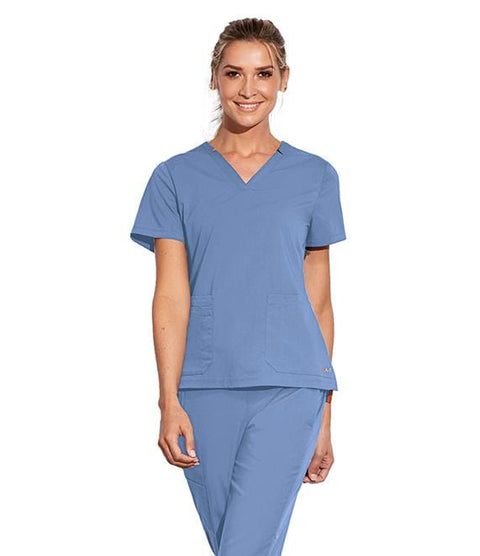 Motion by Barco Women's 3 Pocket Notched Lapover V-Neck - MOT002X - ScrubHaven