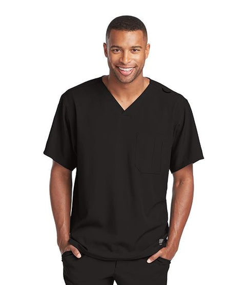 Skechers Men's 1 Pocket Structure Crossover V-Neck - SK0112 - ScrubHaven