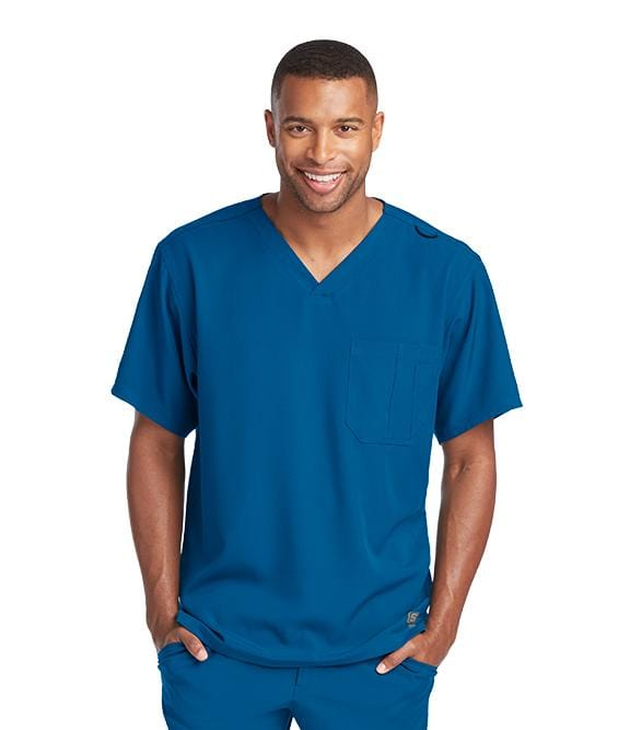 Skechers Men's 1 Pocket Structure Crossover V-Neck - SK0112X - ScrubHaven
