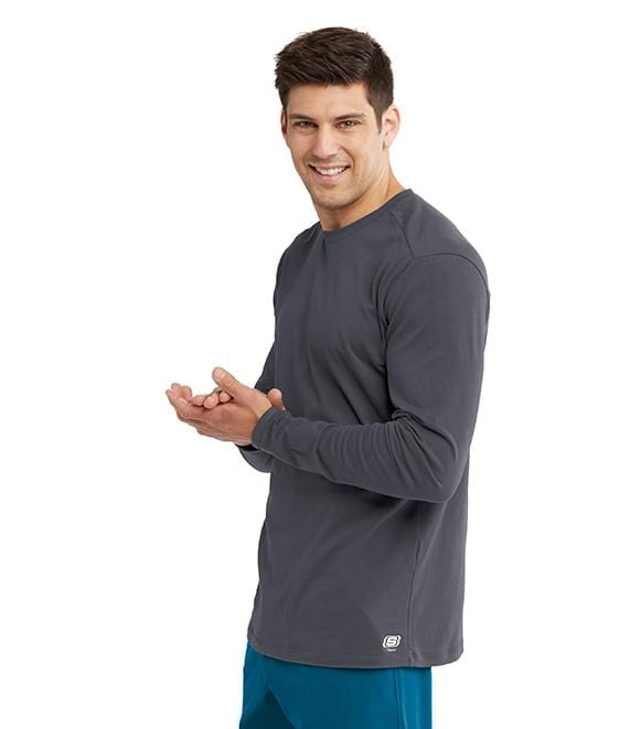 Skechers Men's Long Sleeve Knit Tee - SKK002 - ScrubHaven