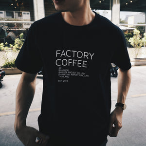 BLACK FACTORY COFFEE T-SHIRT