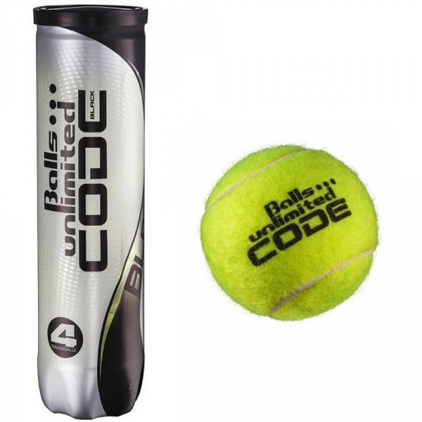 BALLS UNLIMITED Code Black - Tube de 4 balles