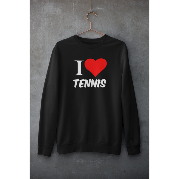 Sweat Shirt I LOVE TENNIS Noir