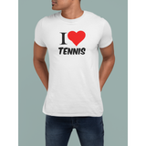 Tee-Shirt I LOVE TENNIS Blanc