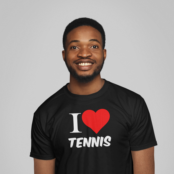 Tee-Shirt I LOVE TENNIS Noir
