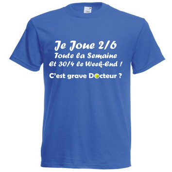 Tee-Shirt 2/6 Homme Bleu Royal