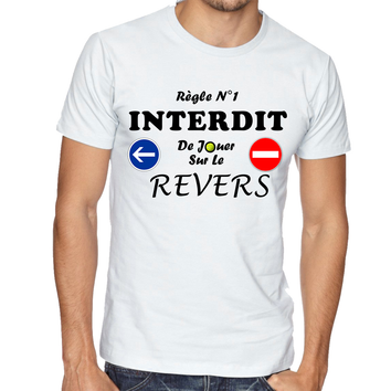 Tee-Shirt Revers Homme Droitier Blanc