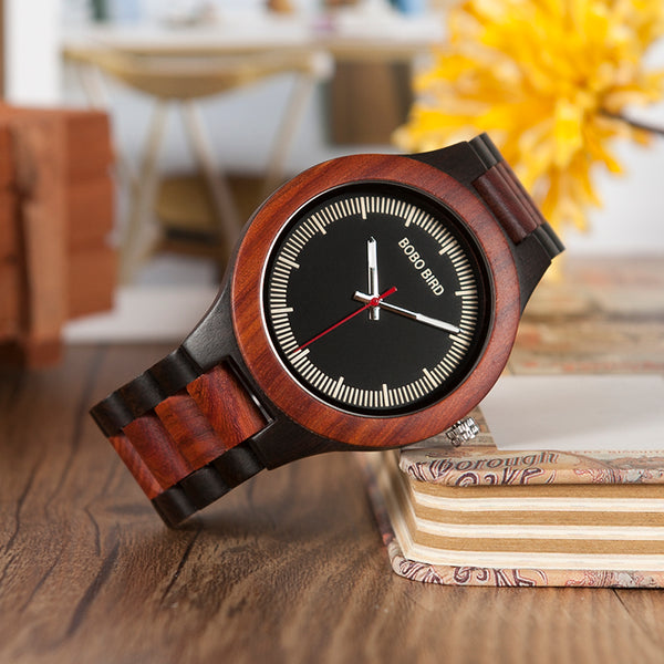 BOBO BIRD Male Antique Wooden Watches